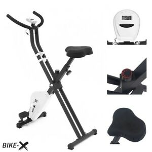 Esprit BIKE-X Foldable Exercise Bike WHITE Fitness Weight Loss Machine