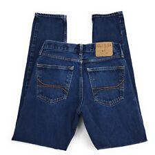 Hollister Skinny Button Fly Mid Rise 100% Cotton Denim Blue Jeans Men's 28x30
