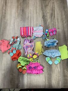 My Life Doll Clothes Lot Bathing Suits Flip-Flops Towel Beach Day Vacation🏖