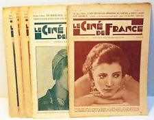 """RARE - 6 N° de la revue  Hebdomadaire """" LE CINE de FRANCE """" -  1926 / 27"""
