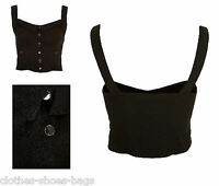 TOPSHOP  Ladies Girls Crop Sun Top Vest Basque Bralet Size 10 12 16 (MAO)