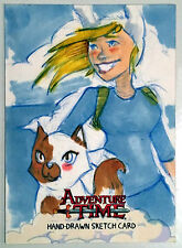 Adventure Time Sketch Card Fiona and Cake by artist D. Douglass