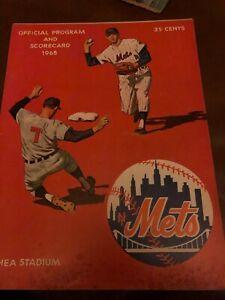 1968 New York Mets Los Angeles Dodgers Program Ed Charles Phil Linz Dick Selma