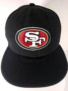 San Francisco 49ers Logo Flat Brim Style Hat Cap Black Size 6-3/4 Small NFL Logo