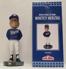 Kansas City Royals Hall of Fame Whitey Herzog Bobblehead 8/14/21 SGA, New MIB