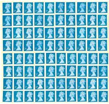 GB 100+ 2nd CLASS SECURITY STAMPS £66 FACE VALUE UNFRANKED OFF PAPER WITH GUM...