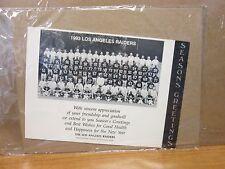 LA Raiders Seasons Greetings 1993 team 7x9.5 photo stills print #3279
