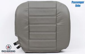 2003-2007 Hummer H2 Passenger Side Bottom GENUINE Leather Seat Cover, Gray Wheat
