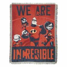 """Disney Incredibles 2 Fighter Family 48"""" x 60"""" Tapestry Throw Blanket"""