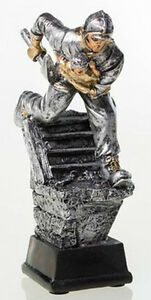 """Feuerwehr-Pokal """"Resin-Figur 2"""" mit Ihrer Wunschgravur (39292)"""