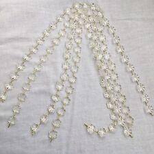 12mm 25 piezas 4 disponible Copo de Nieve Flor De Cristal Lámpara de Araña de Cuentas Prismas