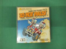 3D HOT RALLY Mario Nintendo -- NEW. Famicom, NES, Disk System. Japan game. 9913