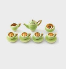 DOLLS HOUSE miniatura Verde e Oro Set Caffè in scala 12A
