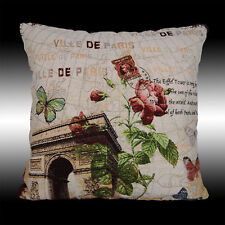 """SHABBY CHIC ROSES TRIUMPHAL ARCH COUNTRY THROW PILLOW CASE CUSHION COVER 17"""""""