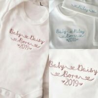 NEWBORN 0-3 MONTHS HAT SLEEPSUIT VEST BABY BORN 2019 BIRTH ANNOUNCEMENT