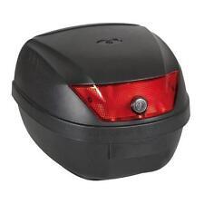 Bauletto moto 28 litri Colore nero goffrato Completo di piastra e viti fissaggio