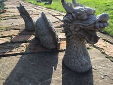 CHINESE DRAGON Stone ornament,garden concrete sculpture,3 Piece dragon statue