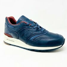 New Balance 997 Leather Made in USA Horween Blue Brown M997BEXP Mens Size 8