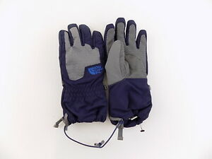 The North Face Men HyVent Gloves Pair Navy Blue Grey Combo BOYS Size L