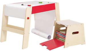 roba Maltisch mit Hocker Kindermaltisch Tisch Papierrolle Holz ab 18 Monate