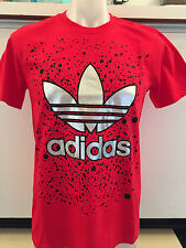 ADIDAS SPLASH FLUX RED GRAPHIC TEE T SHIRT MENS SIZE MEDIUM NWT