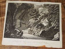 1 Engraving - VEDUTA SUL LAGO DI COMO, DETTA L'ORRIDO DI BELLANO - 1800s