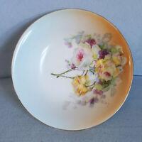 Vintage RM Bavaria Handpainted Trinket Bowl Dish Floral