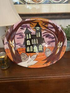 VICKI CARROLL Pottery (MS) HUGE Serving Platter-Halloween EUC