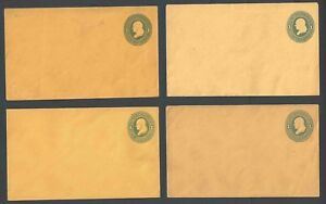 1874 U116 Mint Entires 4 Different Shades All Listed As Orange Mint Set