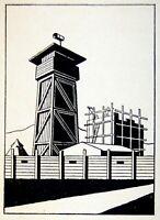 1937 Israel GRAPHIC DESIGN Book OTTE WALLISH Jewish ISOTYPE Palestine JUDAICA