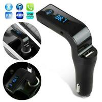 Handsfree Bluetooth Car Kit USB Charger FM Transmitter Player For Radio MP3 T7Y1