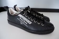 Dsquared2 DS2 Mens Sneakers, Trainers, Uk 10.5 EU44.5, Black Leather, VGC