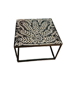 Bone Inlay Coffee Table, living room furniture, Bone inlay furniture, Bone Table