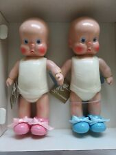 "Vintage Horsman 10"" Hebee-Shebee 1987 Vinyl Dolls ~ Nib #7160-5 Boy & Girl Twins"
