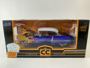 1955 Chevy Bel Air Blue With Flames, 1/24 Jada Collector's Club Limited Edition