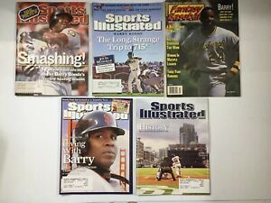 BARRY BONDS Sports Illustrated Magazine covers S.F. Giants 1998-2009 (4)+1