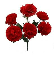 6 Carnations RED Silk Wedding Bridal Bouquet Centerpieces Flowers Decoration