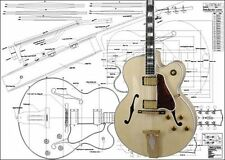 Gibson L5 Archtop Jazz Guitar Full-Scale Plan