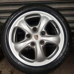 Porsche 911 Carrera  - Alloy Wheel And Tyre, 205/50/R17 99636212401 1998-2004