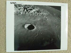 RARE VINTAGE NASA PHOTO DATED MAY 28, 1969 - NO: 69-H-737 APOLLO 10 MOON VIEW