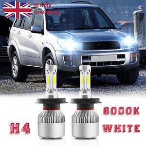fits TOYOTA RAV4 1994-2005 2x H4 Headlight Kit LED BULLET Bulbs ...