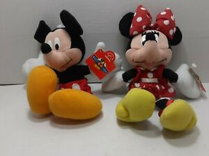 """Disney Mickey for Kids 9"""" Mickey and Minnie- Applause Plush Pair New-with-Tags"""