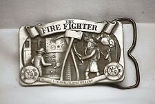 Old Vintage FIRE FIGHTERS Laying It On The Line 1985 C&J Belt Buckle 537 of 5000