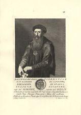 BACCIO BANDINELLI SCULTORE FIRENZE INCISIONE ORIGINALE 1700