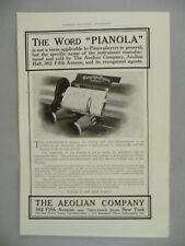 Aeolian Pianola PRINT AD - 1905 ~~ Player Piano