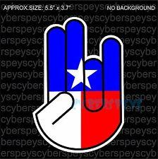 Texas Flag Shocker Drift Racing Design Car Vinyl Sticker Decals