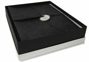 GRADE B Capri Leather Photo Album, Large Obsidian - Handmade in Italy RRP £75