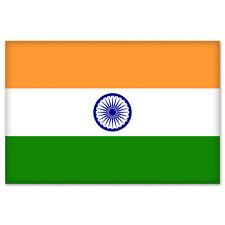 "India Indian National Flag car bumper sticker 5"" x 4"""