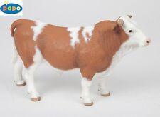 Papo 51142 Toro Simmental 15 cm Animales de granja