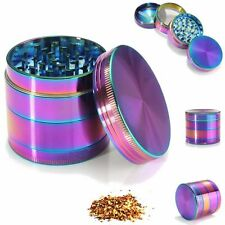 40mm Rainbow Tobacco Herb/Spice/Weed Grinder 4 Piece Alloy Smoke Metal Crusher